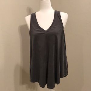 Z Supply suede like tank•Large•grey•so cute!!